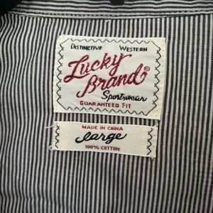 Men's Lucky brand snap down shirt